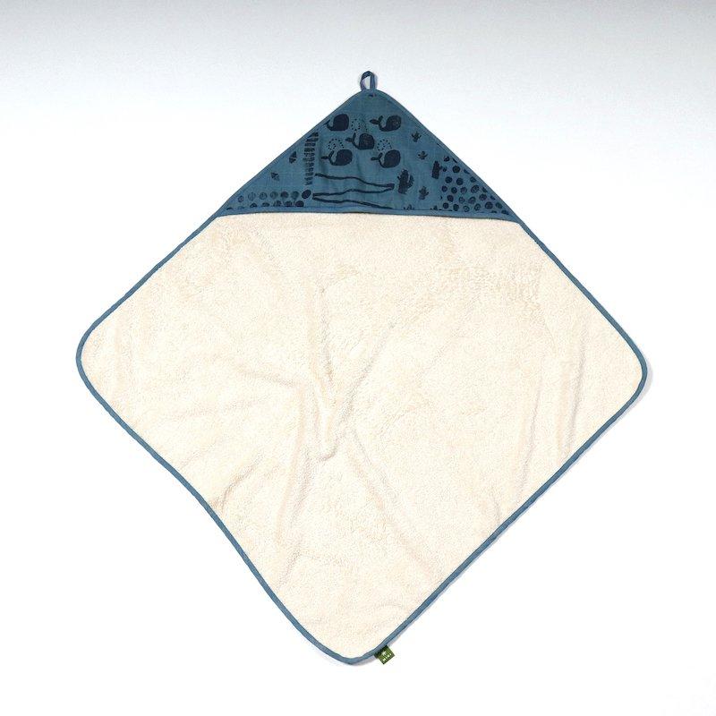 zachte badcape voor de baby van biologisch katoen bij Studio Perspective