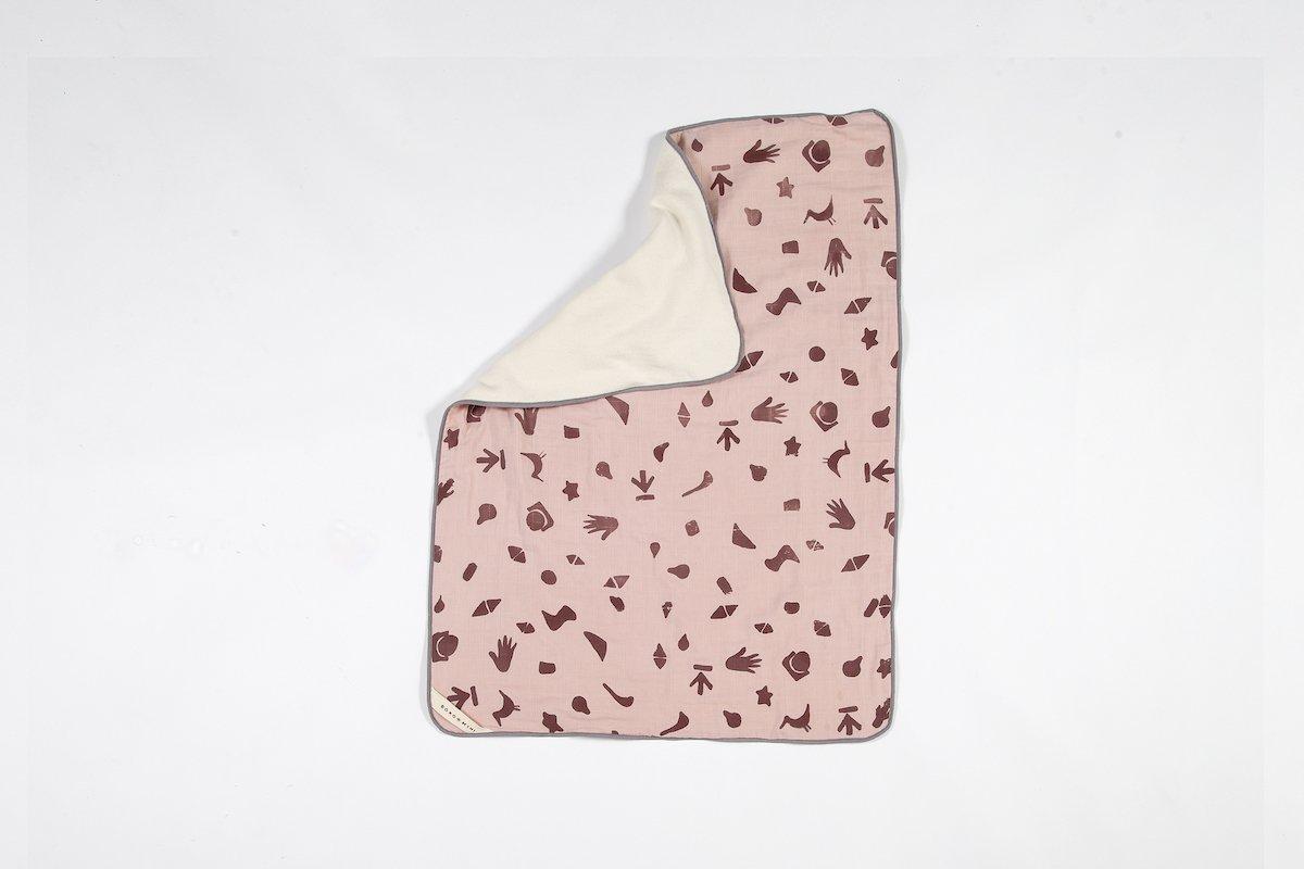 Boro*Mini Wieg Deken Meekrap Roze Print