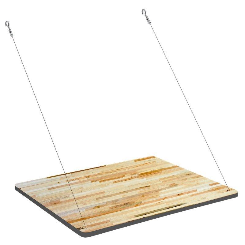 Uitklapbaar bureau voor Fency wandrek geperst hout met witte onderkant Tolhuijs bij Studio Perspective