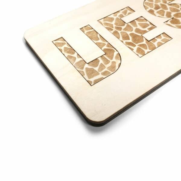 Houten kinderpuzzel Jungle met luipaard print CRE8 bij Studio Perspective