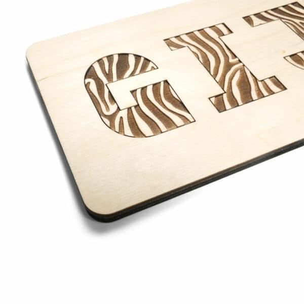CRE8 Houten Jungle puzzel met giraffe print bij Studio Perspective