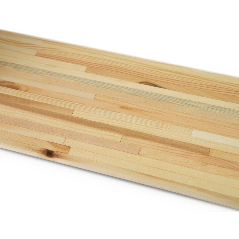 Tolhuijs Fency wit metalen wandrek met verplaatsbare houten plankjes bij Studio Perspective