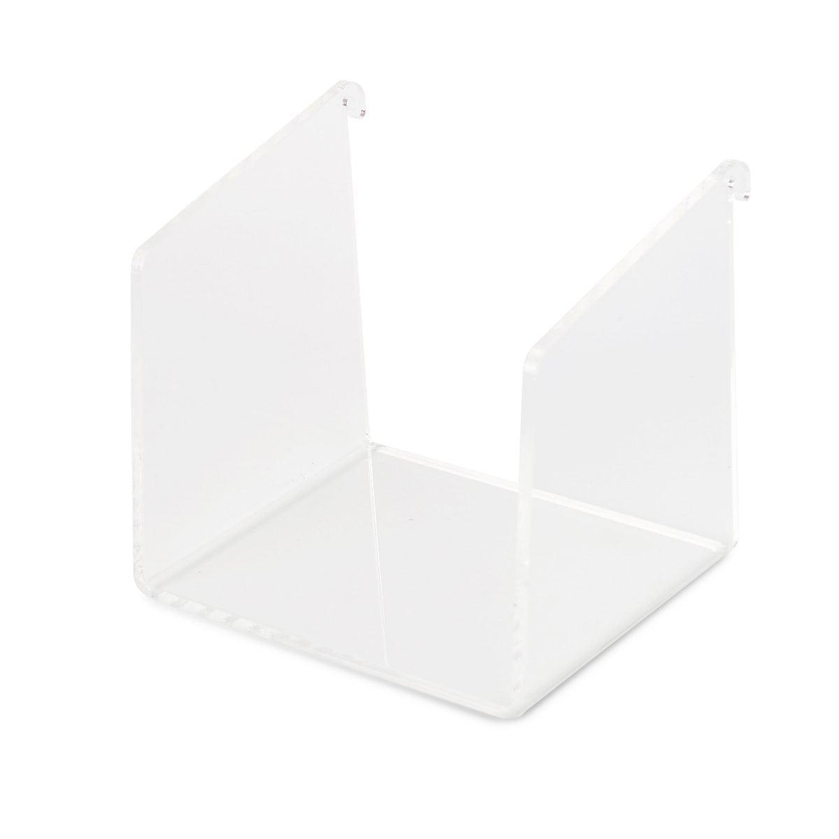 Het Fency Plexi Plankje Enkel van Tolhuijs Design is een bijpassend element van het duurzame FENCY wandrek bij Studio Perspective.