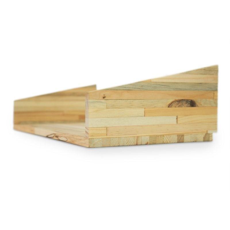 Fency Geperst Hout Enkel is een element van het duurzame, modulaire Fency wandrek van Tolhuijs Design bij Studio Perspective.