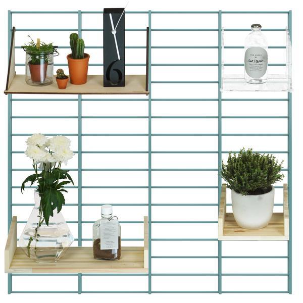 Fency wandrek in kleur wit van Tolhuijs Design. Roomie pakket Tolhuijs Design wandsysteem.