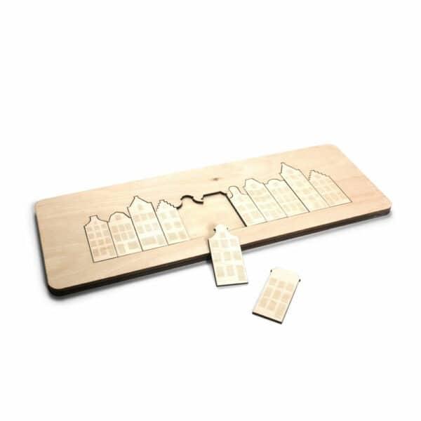 Kinderpuzzel van duurzaam hout uniek kraamcadeau voor Amsterdamse ouders