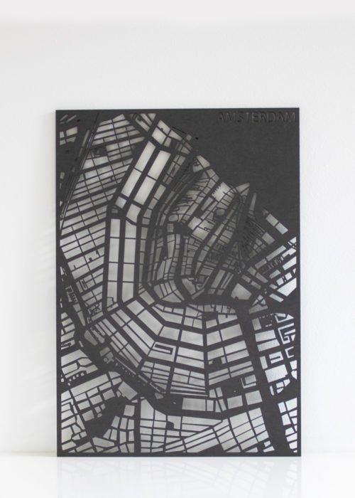 Stadskaart Zwart Maatwerk