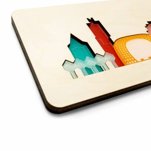 Rotterdams kraamcadeau kinderpuzzel van hout