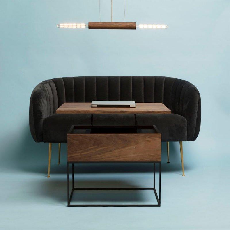 TWO-O salontafel hout en metaal