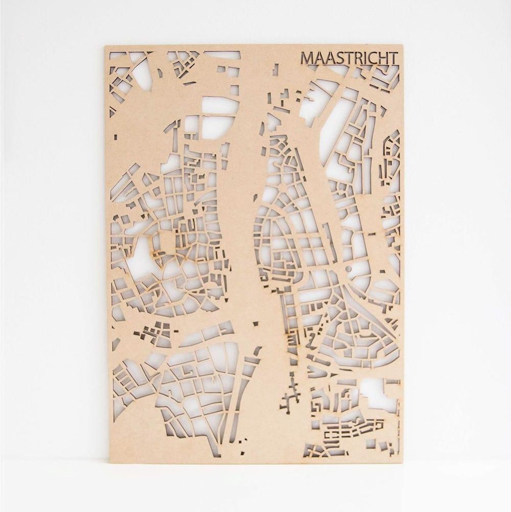 PlanqKaart Houten Stadskaart Maastricht