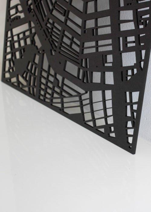 Stadskaart Rotterdam in kleur zwart bij Studio Perspective