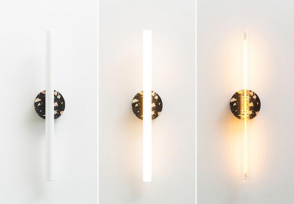 Drie wandlampen Recast opaal LED Studio Perspective