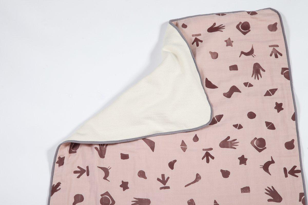 roze wieg deken bij Studio Perspective