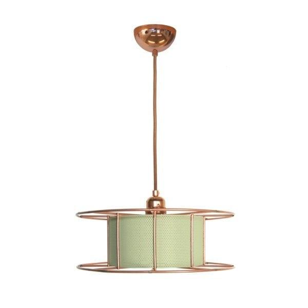 De SPOOL Amsterdam van Tolhuijs Design is een duurzame koperen hanglamp van gerecycled materiaal bij Studio Perspective.