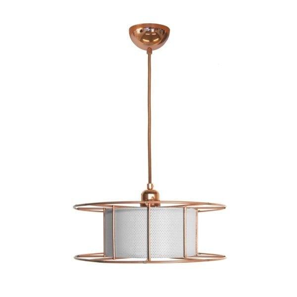 De SPOOL Yellow van Tolhuijs Design is een duurzame koperen hanglamp van gerecycled materiaal bij Studio Perspective.