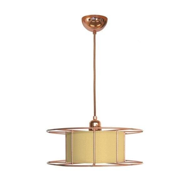 De SPOOL green van Tolhuijs Design is een duurzame koperen hanglamp van gerecycled materiaal bij Studio Perspective.