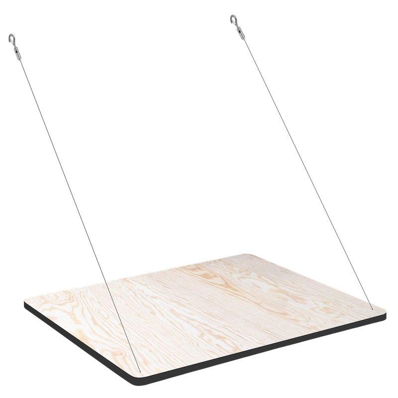 Uitklapbare wandplank en bureau voor Fency wandrek multiplex met witte onderkant