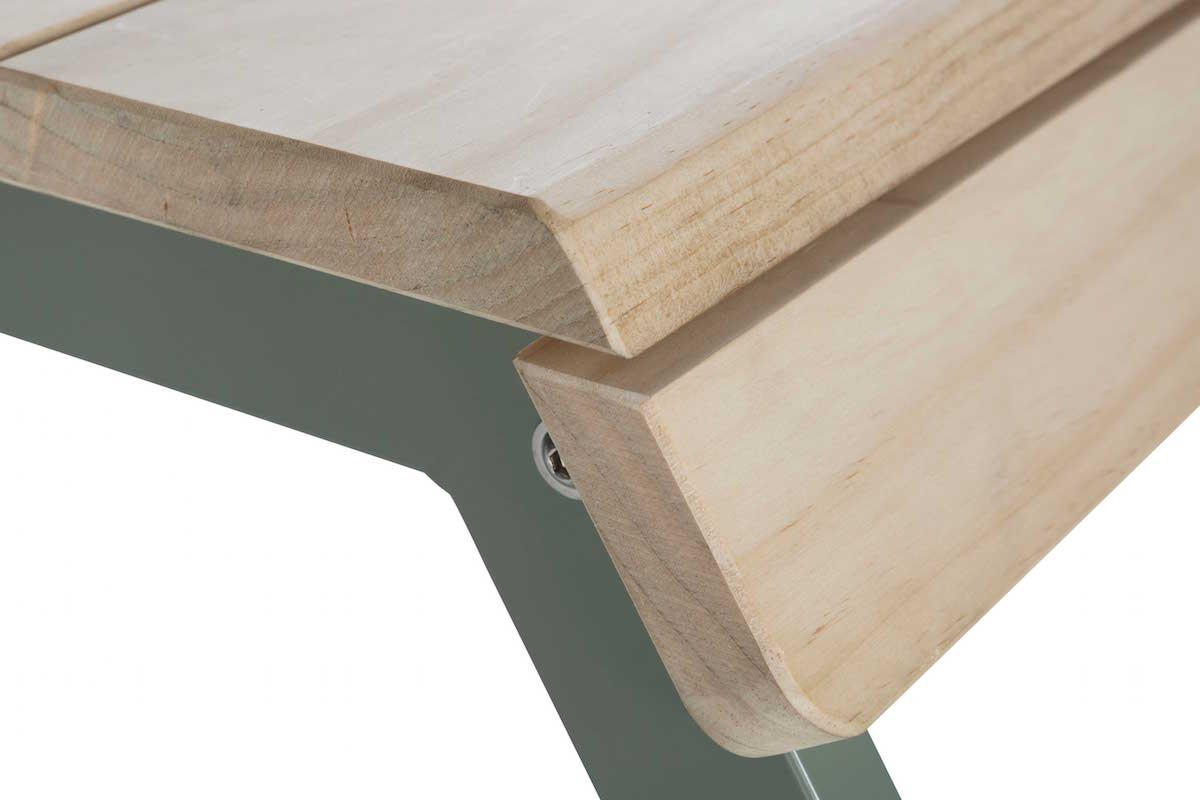 Weltevree-Tablebench-2-Seater-detail-Acooya-wood
