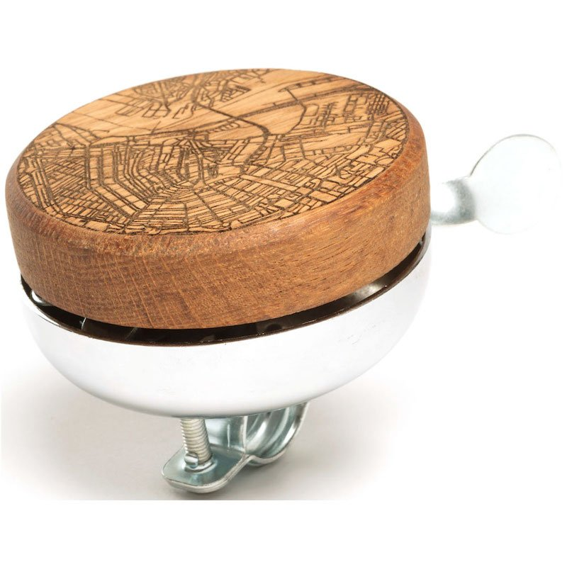 Fietsbel van hout Amsterdam TWO-O