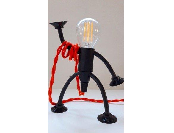 Fittinglamp als poppetjeslamp mr. bright