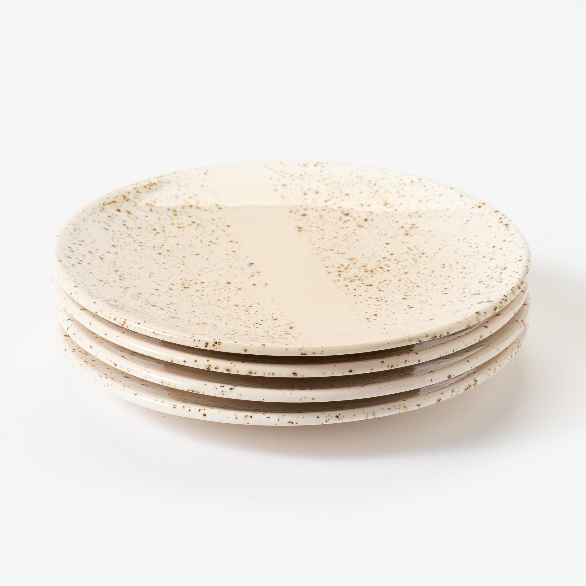 Roadsmaakt ontbijt bord klein gespikkeld-001