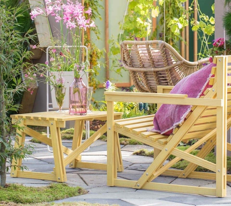 Patio easy chair duurzame groene tuinstoel Weltevree