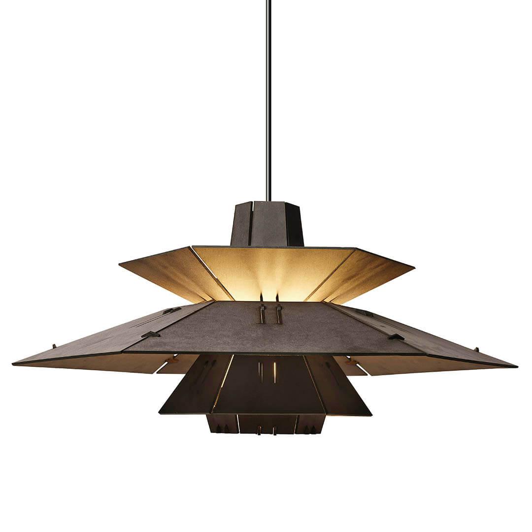 Hanglamp zwart hout Tjalle en Jasper PM5