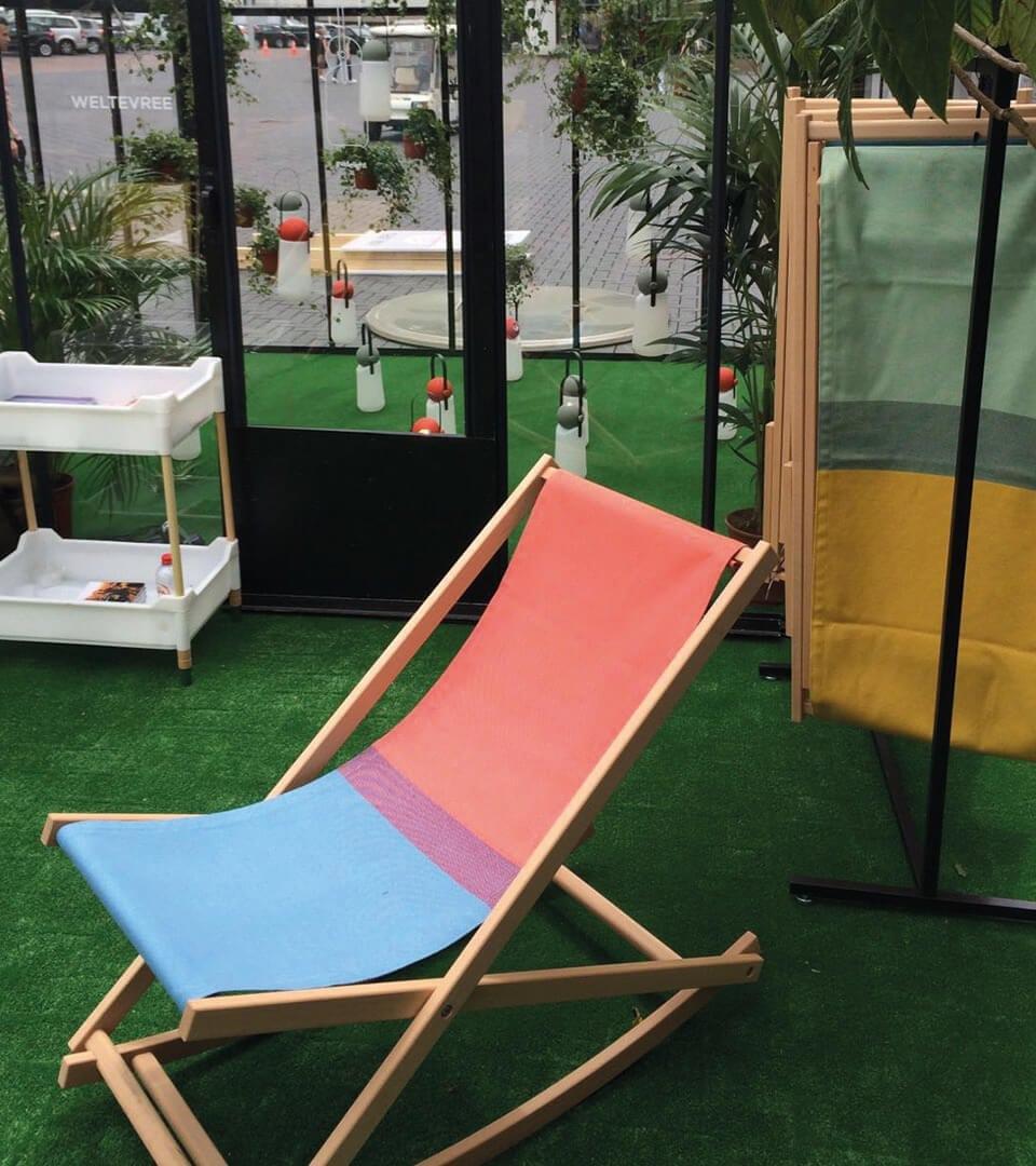 Opvouwbare strandstoel van Weltevree