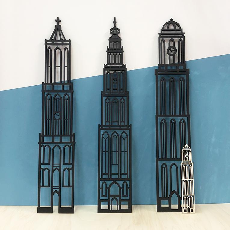 Grote wanddecoratie Haarlem stadstoren Grote kerk