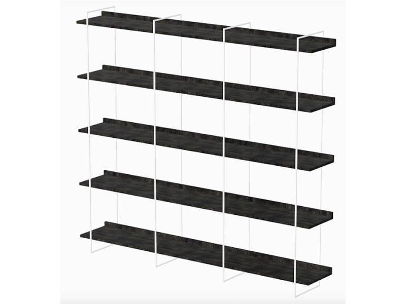 Wandkast fins multiplex wit stalen frame Studio Perspective