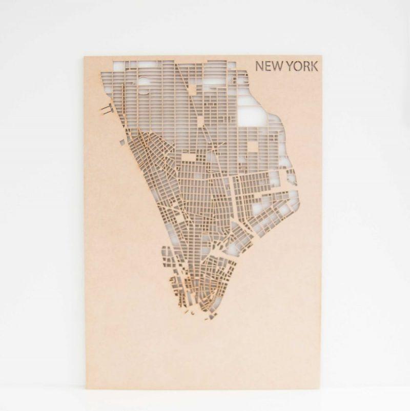 Houten Stadskaart New York