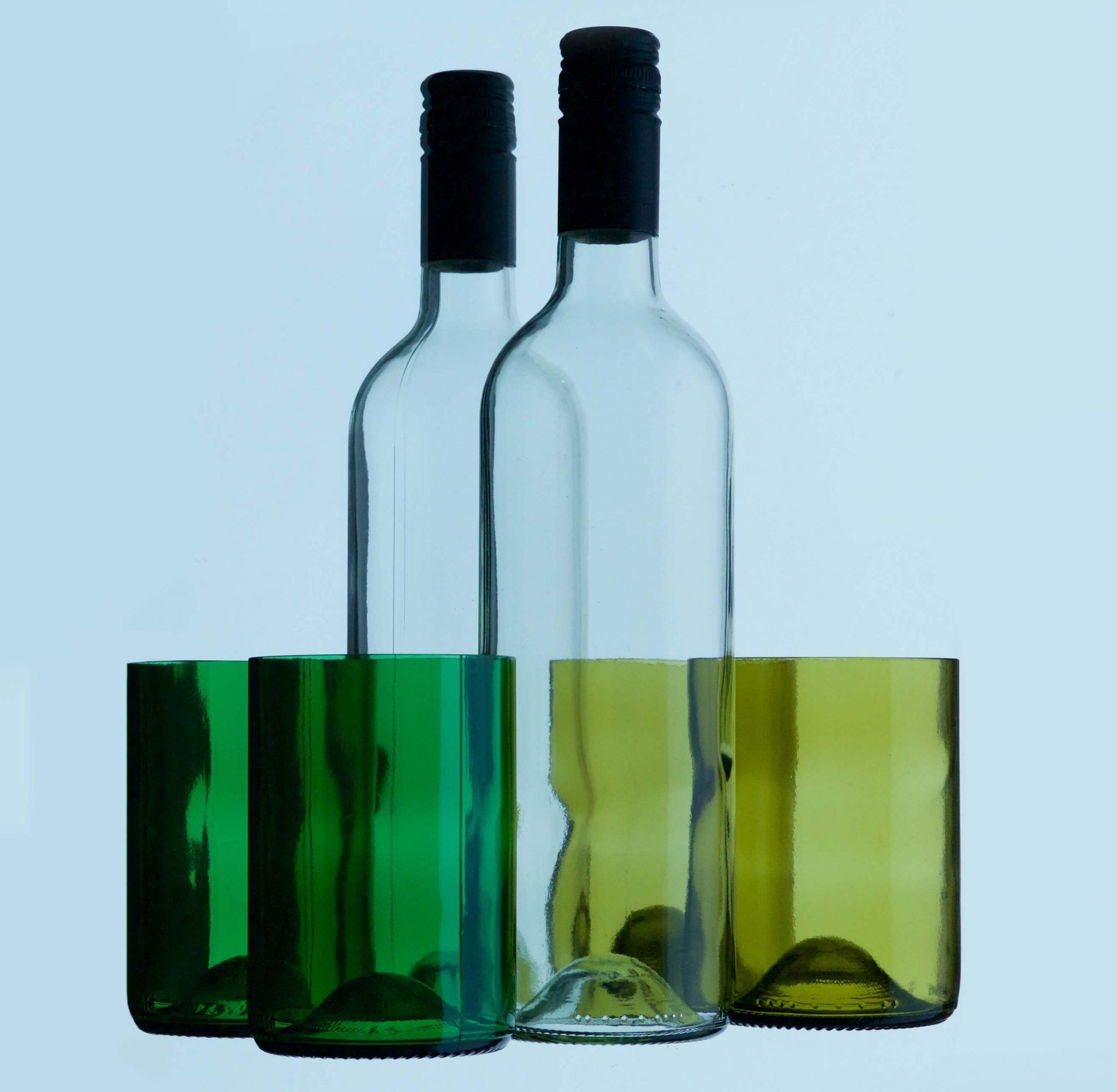 Rebottled Glass Brown circulaire drinkglazen bij Studio Perspective