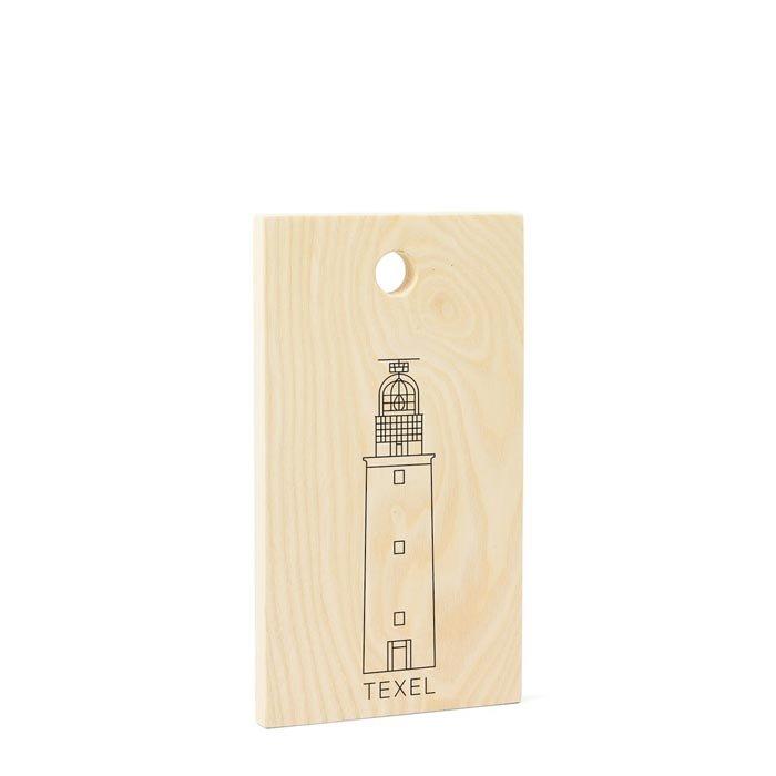 Vuurtoren Texel houten snijplank essen klein