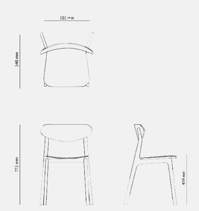 afmeting planq ubu stoel
