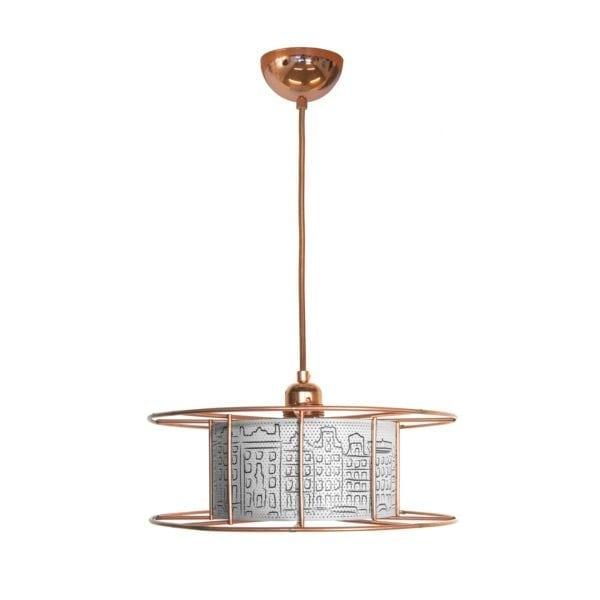 De SPOOL van Tolhuijs Design is een duurzame koperen hanglamp van gerecycled materiaal bij Studio Perspective.