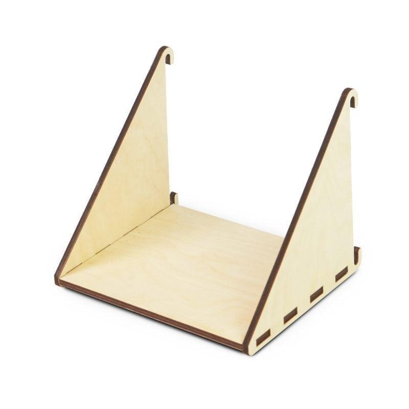 Het Fency Laser Plankje Enkel van Tolhuijs Design is een lasergesneden plankje voor het modulaire en duurzame wandrek Fency.