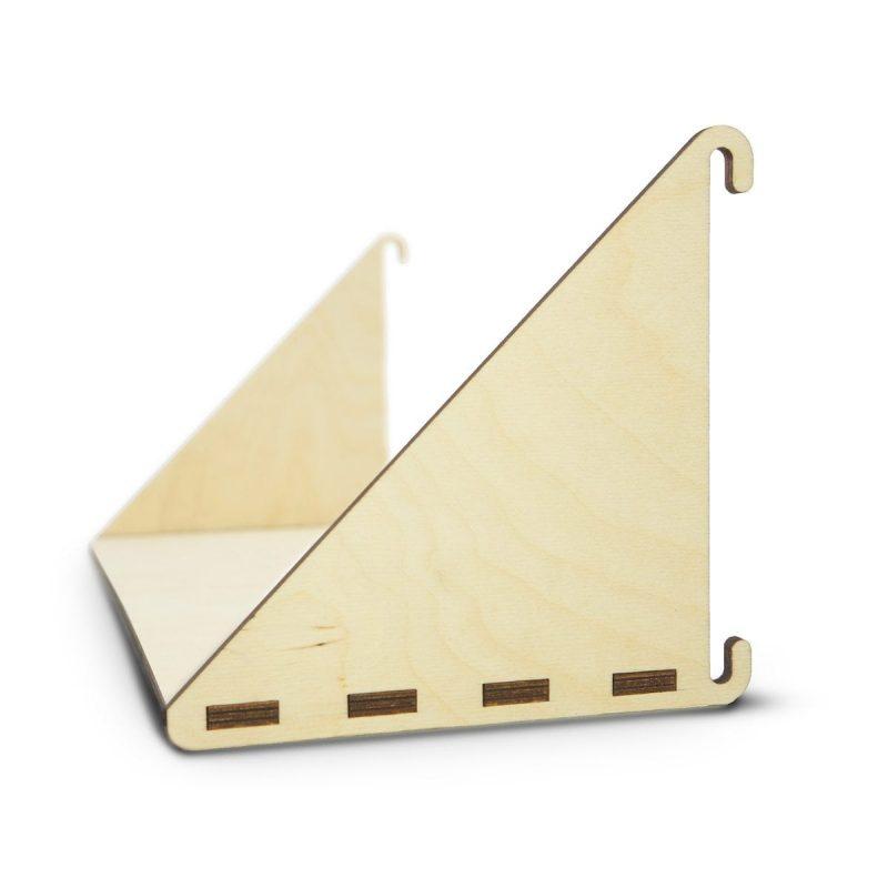 Fency Laser Plankje Dubbel is een lasergesneden houten plankje van het duurzame modulaire Fency wandrek van Tolhuijs Design.