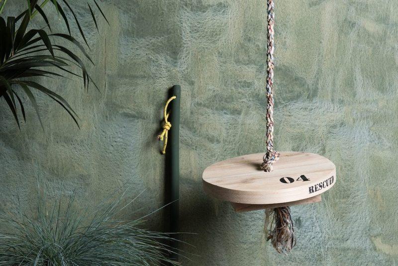 Home&Garden over Studio Perspective met de SwingSwing schommel van Rescued. From waste to wonderful.