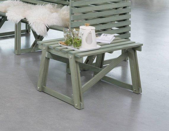 Weltevree, Patio Side Table, duurzaam houten bijzettafel, patio set, dutch design, buitenmeubel geschikt voor kantoor.