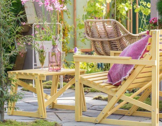 De Patio Easy Chair van Weltevree is een houten tuinstoel, gemaakt van duurzaam Accoya® hout en is onderdeel van de Patioset.