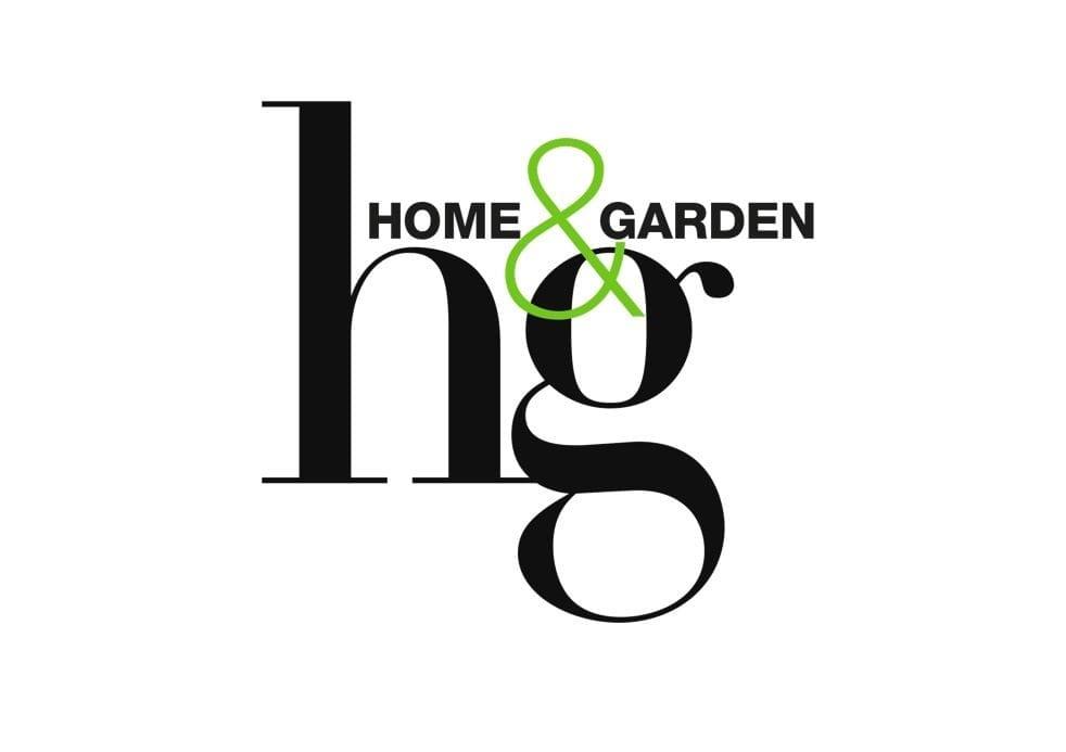 Home&Garden logo. Tijdschrift Home & Garden schrijft over Studio Perspective. Rescued staat in Home and Garden, verkoop via Studio Perspective.