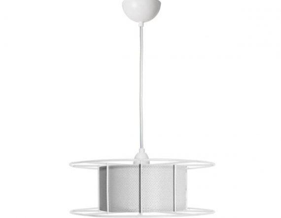 Spool White is een witte hanglamp van Tolhuijs Design. Witte designlamp gemaakt van gerecycled materiaal bij Studio Perspective.