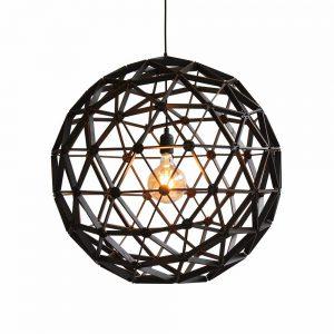 Bollelamp ø75cm van Binthout is een opengewerkte designlamp van duurzaam hout bij Studio Perspective.