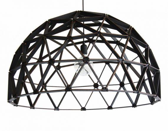 Koepellamp ø100cm van Binthout is een houten geraamten hanglamp van duurzaam hout.