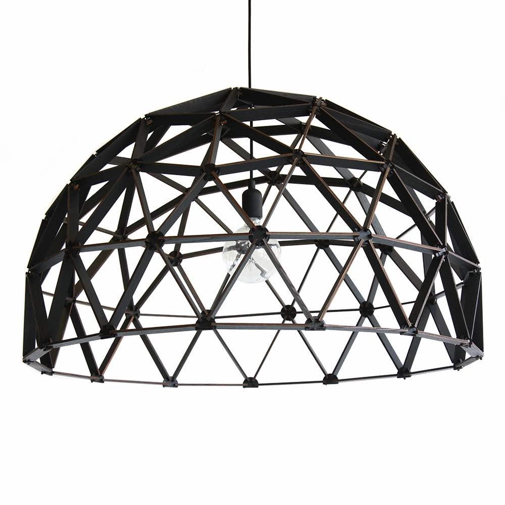 Koepellamp ø100cm van Binthout is een handgemaakte Design lamp van duurzaam hout bij Studio Perspective