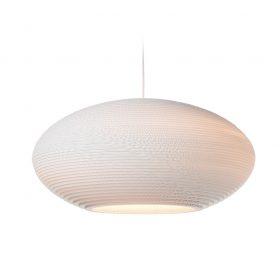 De Scraplight Disc 24 White van Graypants is een witte hanglamp van karton. Duurzame designverlichting bij Studio Perspective.