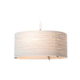 De Scraplight DRUM 18 White van Graypants is een witte, duurzame designlamp voor thuis en het kantoor bij Studio Perspective.