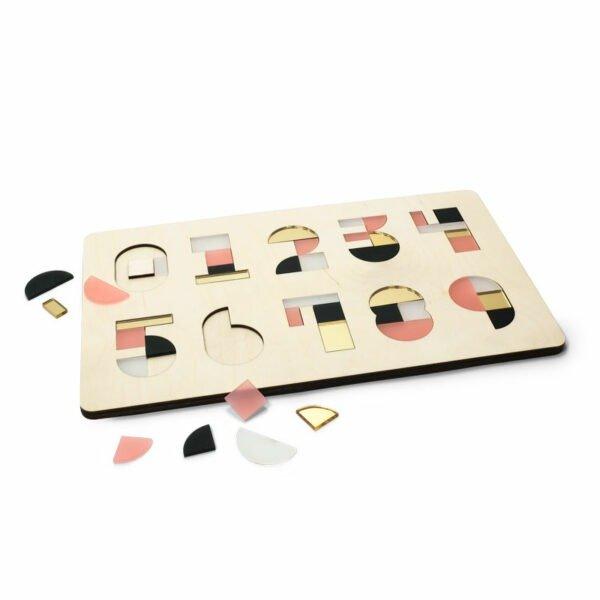 CRE8 Cijferpuzzel Raspberry Gold houten kinderpuzzel Studio Perspective