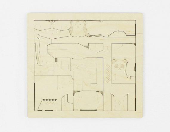De DIERENPUZZEL is een houten kinderpuzzel met dieren van CRE8. Een prachtig, duurzaam kindercadeau bij Studio Perspective.