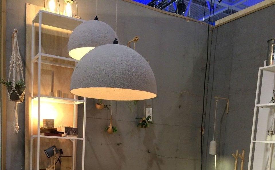 The Latest Edition hanglamp van Rescued is gemaakt van oud papier. Unieke handgemaakte Design lamp bij Studio Perspective.